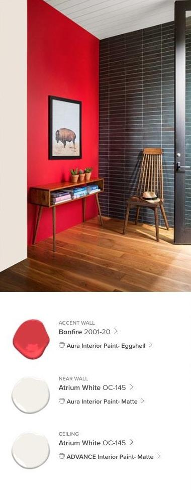 Bold Reds Interior Paint