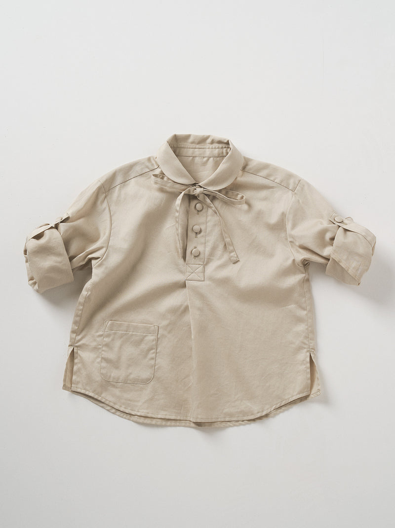 【20013-0201】kids ribbon PO shirt
