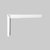 Folding Brackets - White (1 Pack)