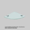 Tempered Glass Shelf and Silver Jam Brackets - Corner - 250x250x6mm