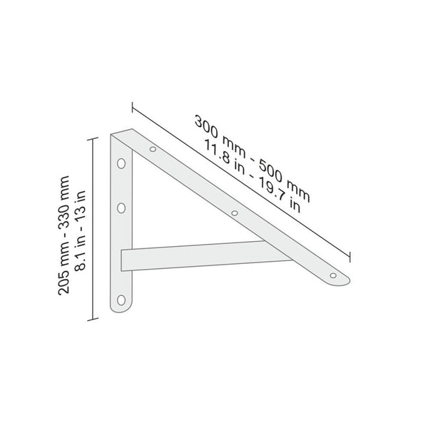 Industrial Brackets - White (2 Pack)