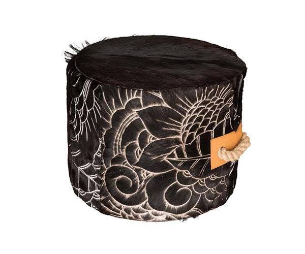 Escaño Ottoman - Cascara Etch Black