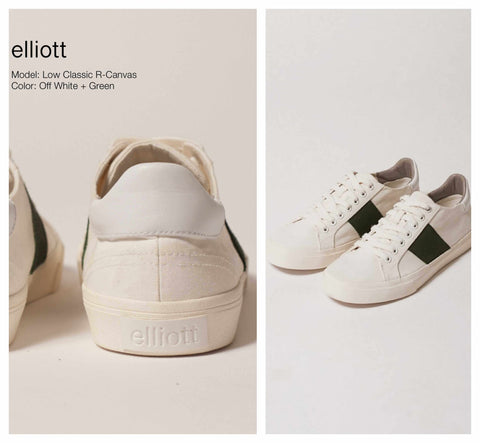 Low Classic R-Canvas White/Green |Elliott Footwear| Saatxa Christmas Gift Guide