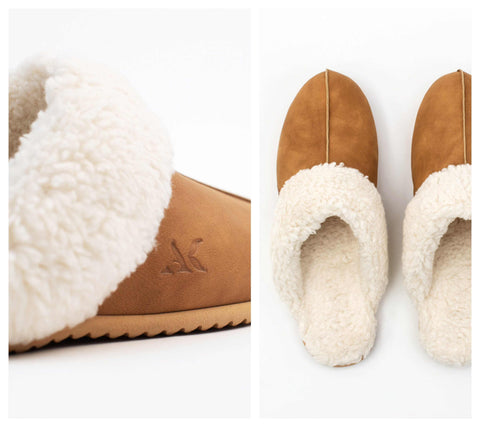 Slipper Tan Vegan Wool | Allkind | Saatxa Christmas Gift