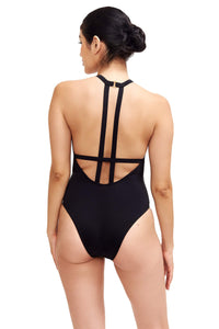 Back of Denise One Piece Swimsuit in Black