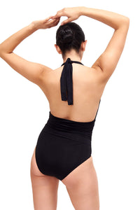 Back of Eva One Piece Swimsuit Black