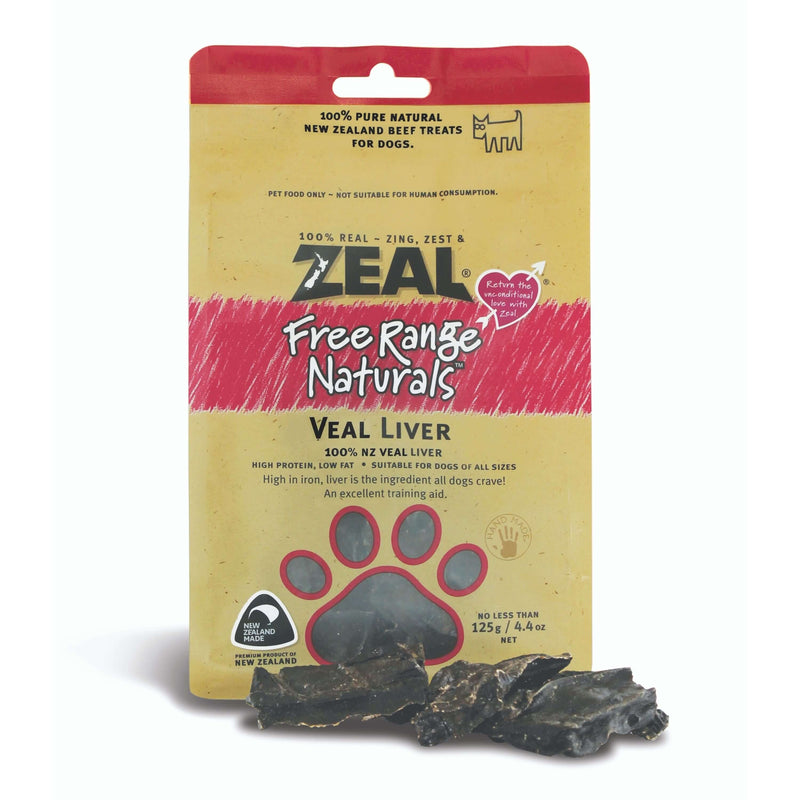 Zeal - Free Range Air Dried Veal Liver - Dog 125g Treats