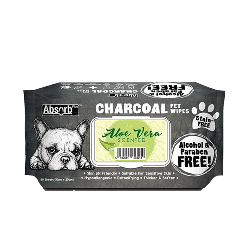 Absorb Plus - Charcoal Pet Wipes 80pcs (6 Scents)