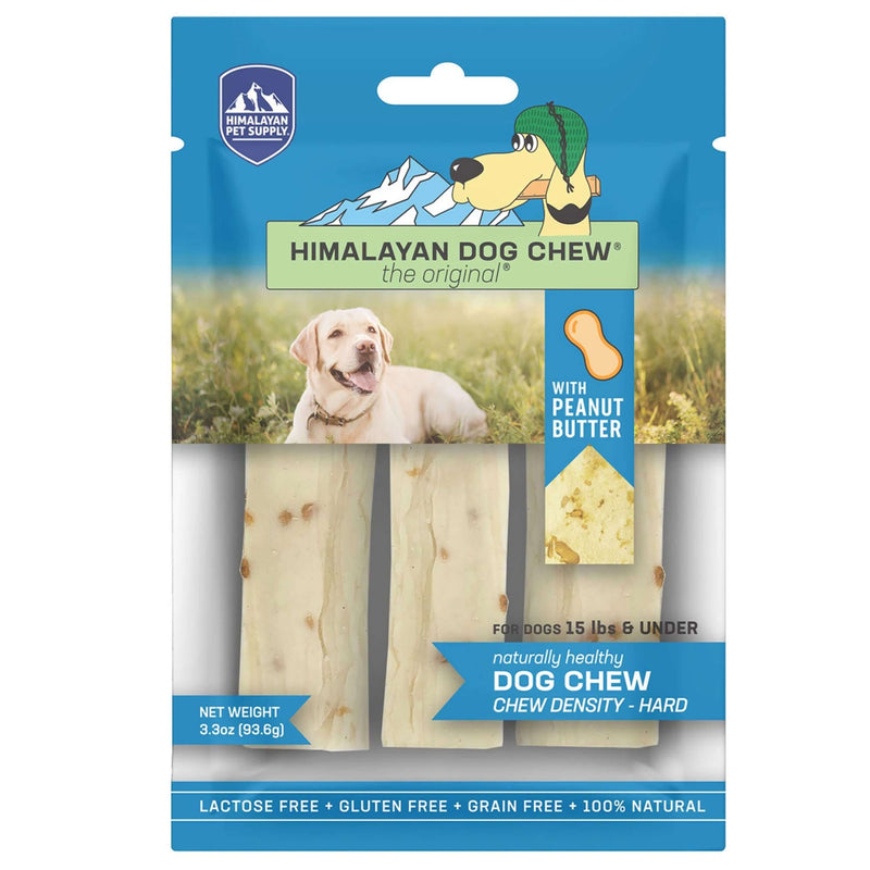 Himalayan Pet Supply - The Original Cheese Dog Chew (Peanut Butter) - Hard Density Dog Treats (4 Sizes)