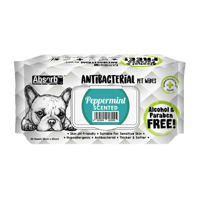 Absorb Plus - Antibacterial Pet Wipes 80pcs (7 Scents)