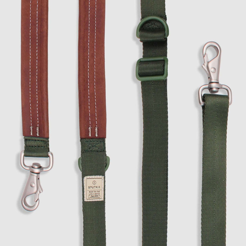 SPUTNIK - Multi-Function Dog Leash (Green) - Dog Leash (2 Sizes)