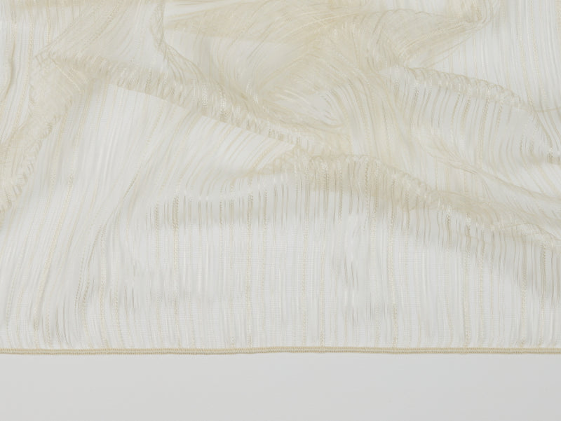 Cannes Ivory Sheer Fabric