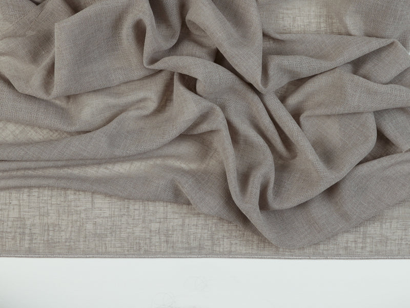 Prague Grey Sheer Fabric