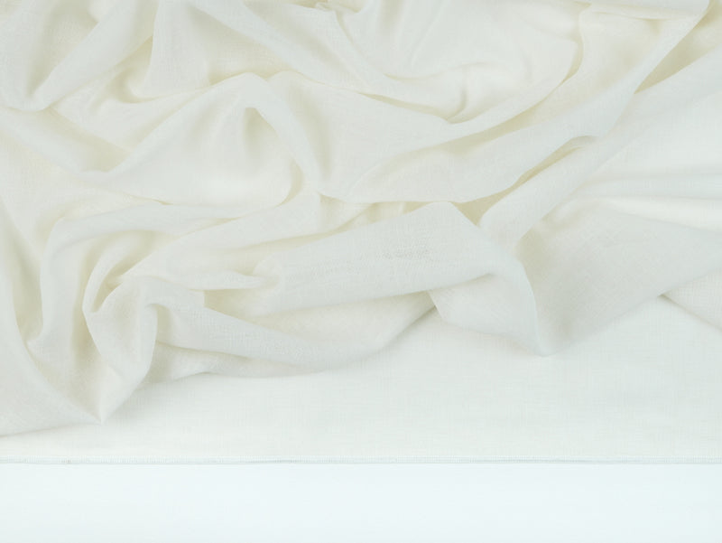 Prague Ivory Sheer Fabric