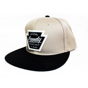 FRENDY SNAPBACK LOGO BLACK & CARAMEL