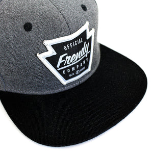 FRENDY SNAPBACK LOGO BLACK & HEATHER GRAY