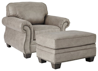Olsberg Signature Design 2-Piece Chair & Ottoman Set