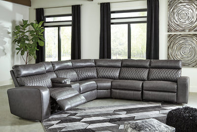 Samperstone Signature Design by Ashley 6-Piece Power Reclining Sectional