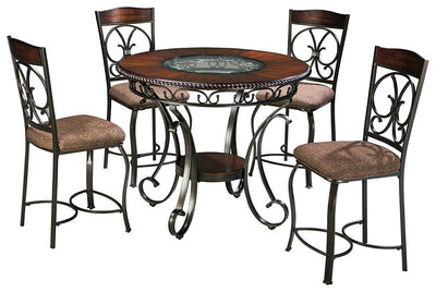 Glambrey Signature Design Counter Height 5-Piece Dining Room Set