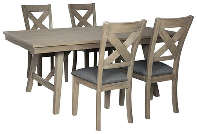 Aldwin Signature Design 5-Piece Dining Room Set