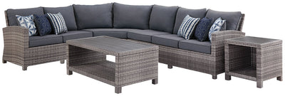 Salem Beach Signature Design By Ashley 6-Piece Outdoor Sectional with Occasional Tables Set
