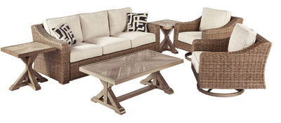 Beachcroft Signature Design 5-Piece Outdoor Conversation Set