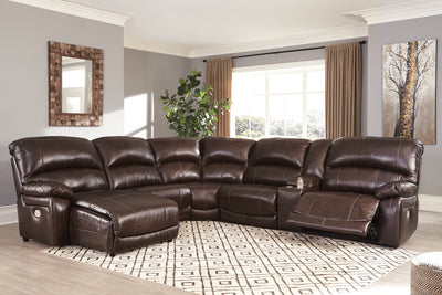 Hallstrung Signature Design by Ashley 6-Piece Power Reclining Sectional with Chaise