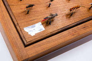 Wooden Fly Box with Montana Inlay