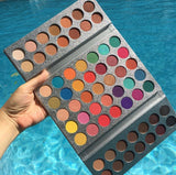 BEAUTY GLAZED EYESHADOW TRAY WITH 63 COLOR PALETTES