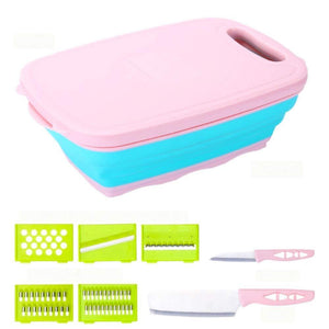 Chopping Board with Washing Drain Basket 2 Set of Knives