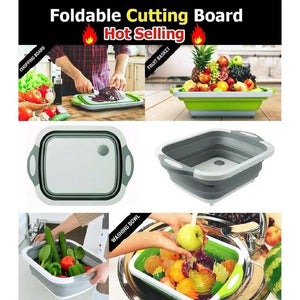 FOLDING CHOPPING BOARD BASKET