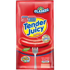 Arnilene Seafoods (Quezon City) Purefoods Tender Juicy Hotdog 1kg