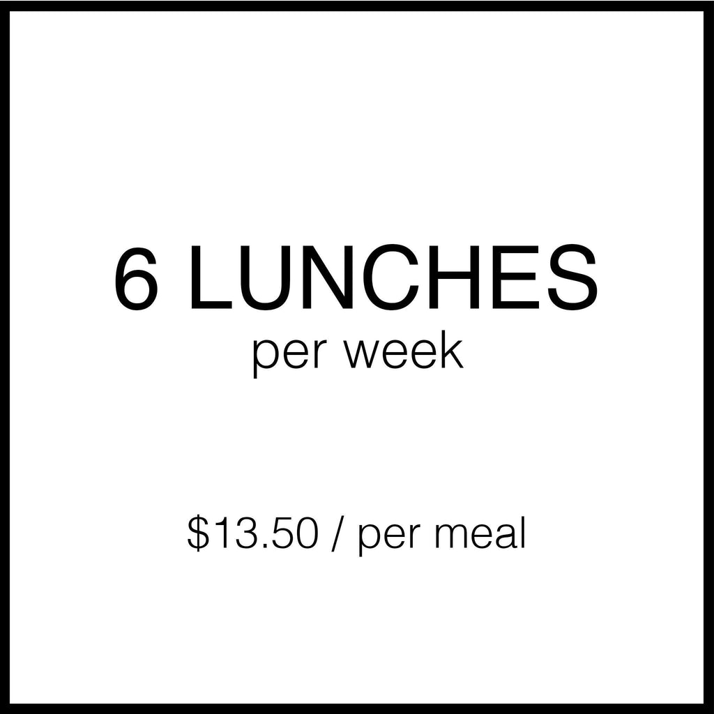 6 Lunch Plan Lunch subscription Sifted