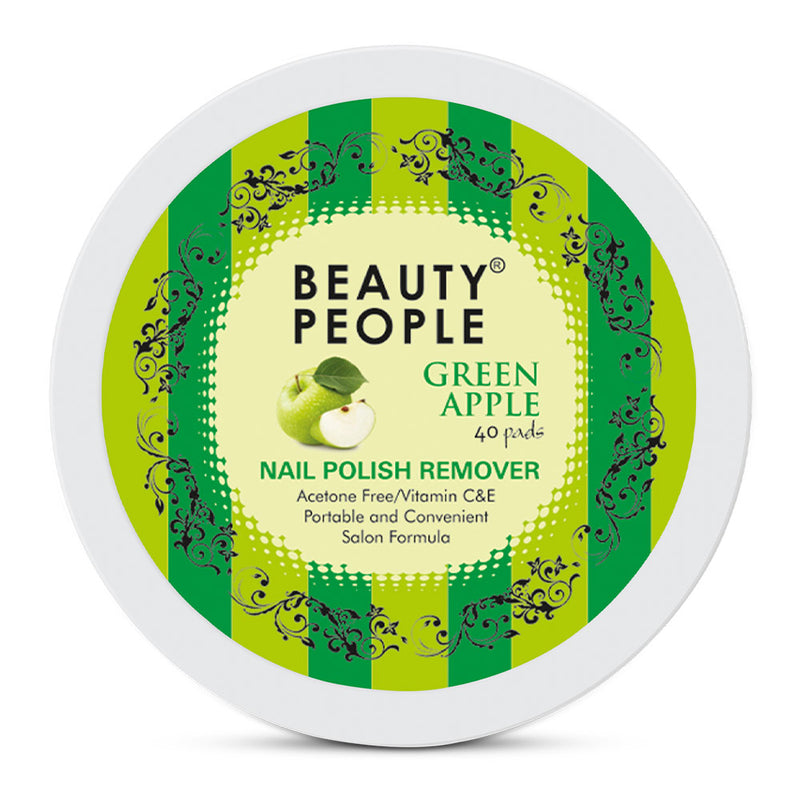 Beauty People Pad Nail Polish Remover - Green Apple