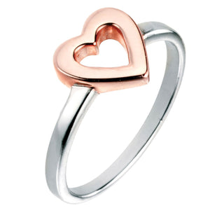 Rose Gold Open Heart Ring