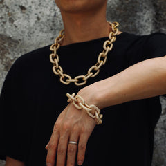 Punk Style Chain In Yellow Gold