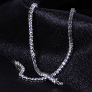 Round Cut Tennis Chain (5mm) In White Gold