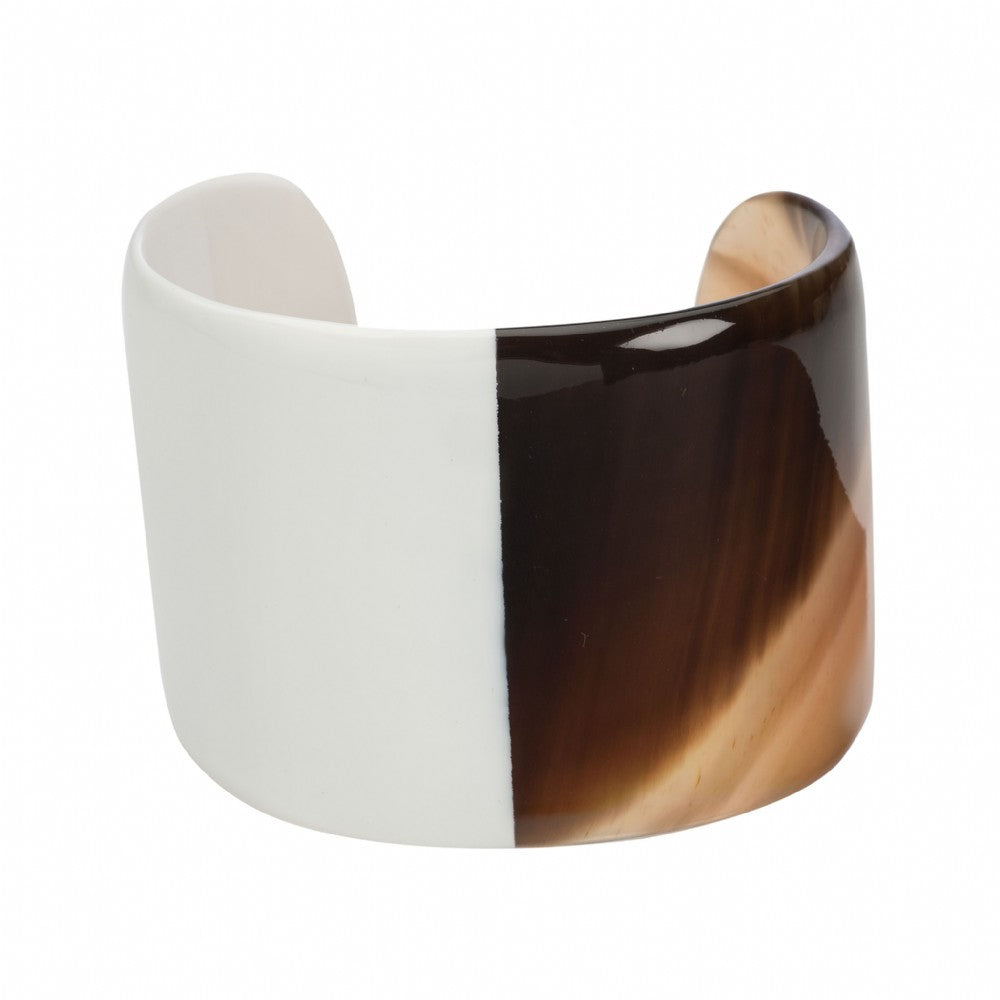 Honey Buffalo Horn Cuff With Lacquer