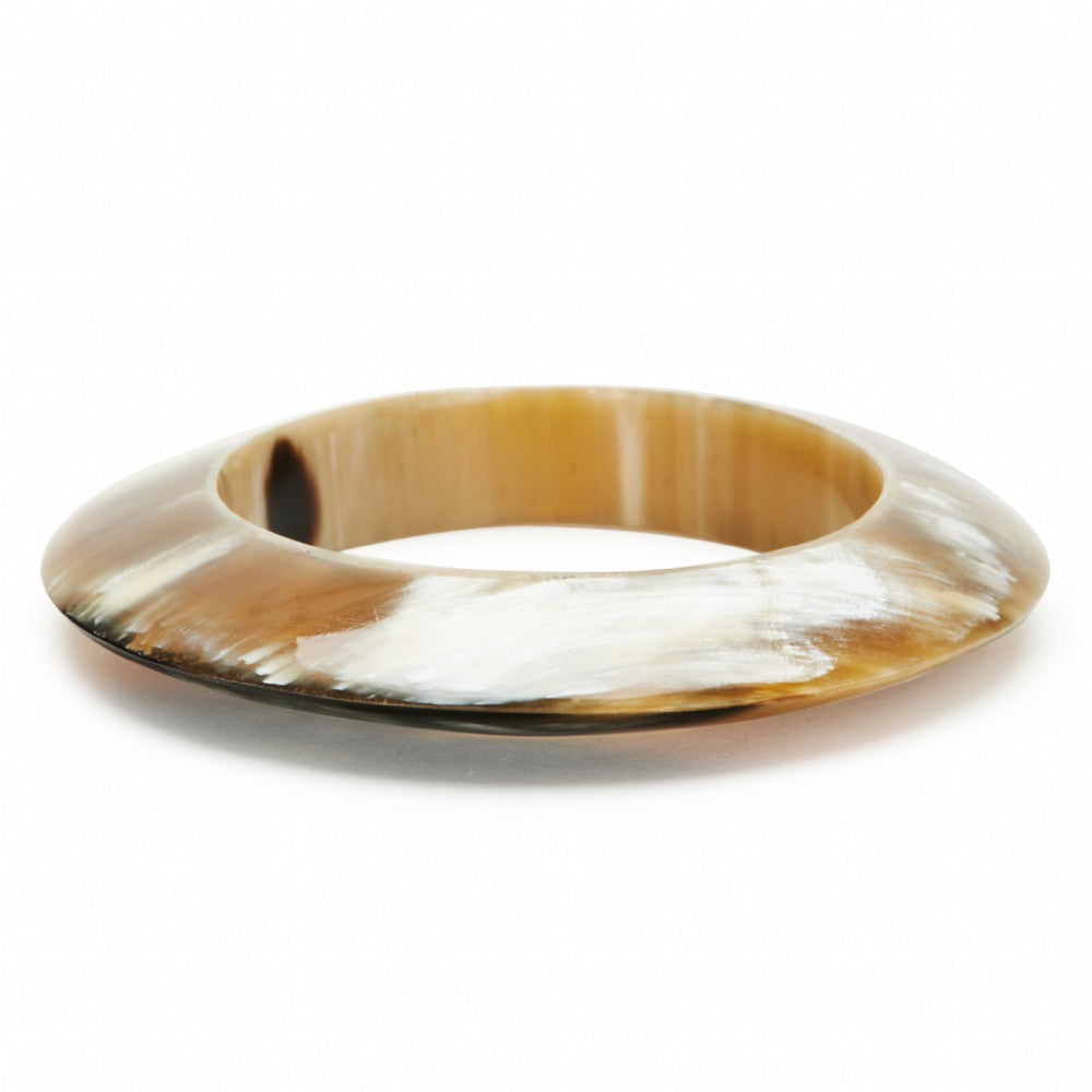 Hollow 3-D Horn Bangle