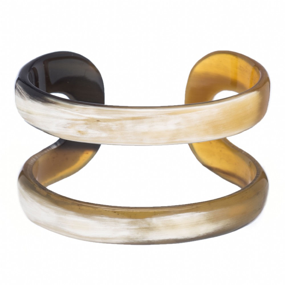 Natural Buffalo Horn Thin Line Cuff