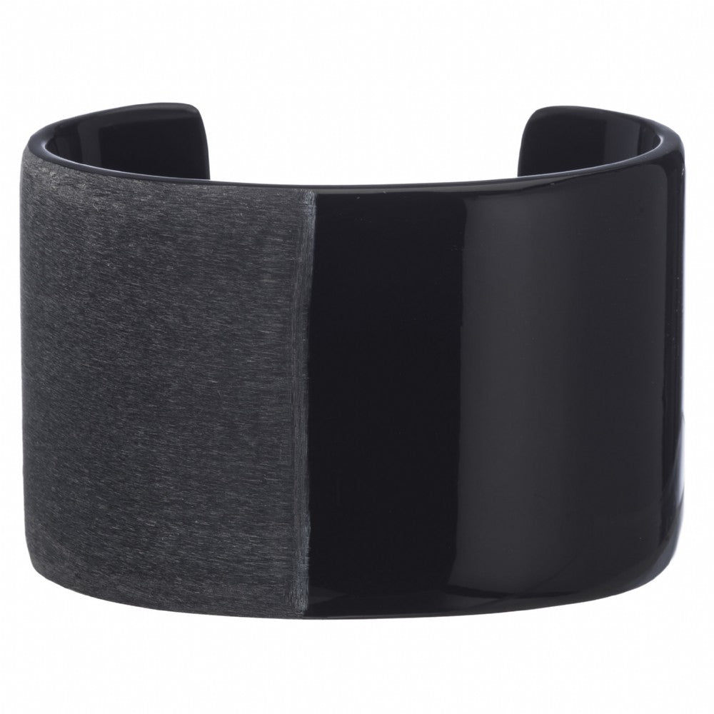 Matt Black Buffalo Horn Cuff