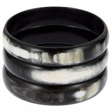 Load image into Gallery viewer, Buffalo Horn Triple Bangle Set