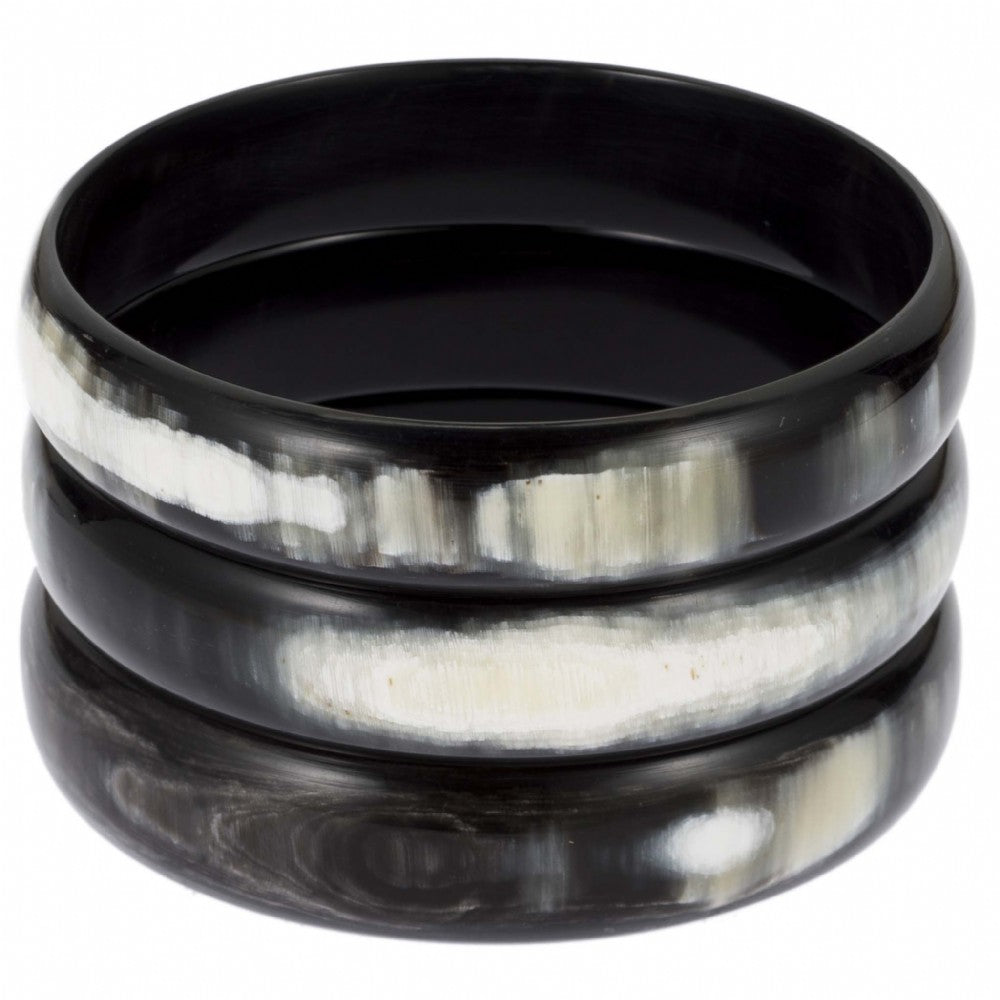 Buffalo Horn Bangle Set