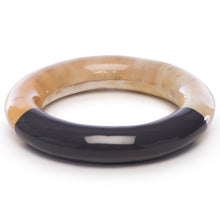 Load image into Gallery viewer, Circle Bangle With Charcoal Lacquer