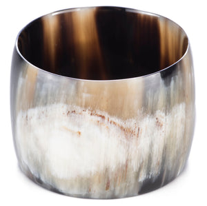 Natural horn wide bangle