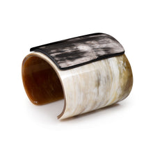 Load image into Gallery viewer, Wide Horn Cuff w Plaque