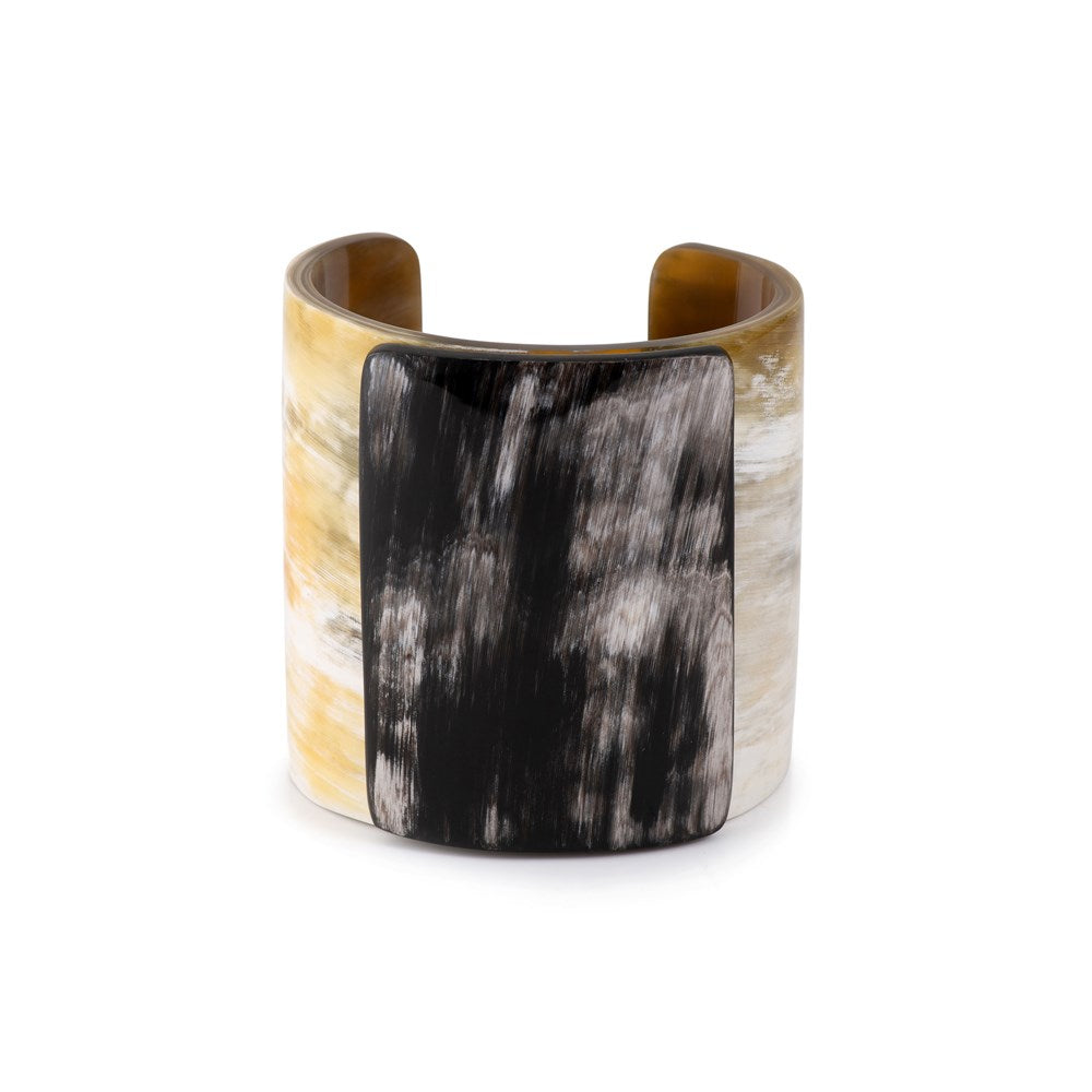 Wide Horn Cuff w Plaque