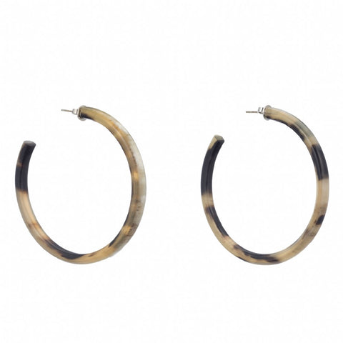 Buffalo HornLarge Hoop Earring