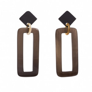 Buffalo horn rectangle drops