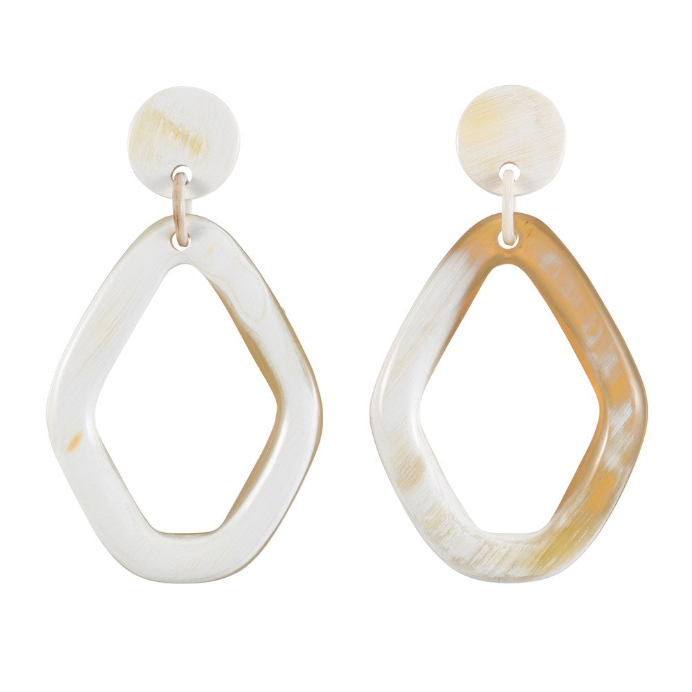 Buffalo Horn Earring Diamond Shape - Vivo Direct